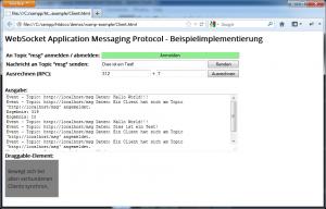 WAMP Beispielimplementierung Client