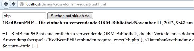 ajax cross domain request screenshot